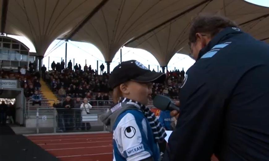 Ganz groß! Oldenburgs Stadionsprecher ist 3 Jahre!